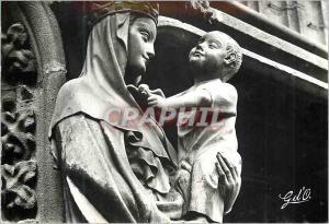 Moderne Karte Riom (Puy de Dome) l'Auvergne Eglise de Notre Dame du Marthuret la Vierge a l'Oiseau