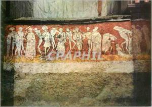 Moderne Karte La Chaise Dieu (Hte Loire) la Danse Macabre Peinture Murale du XVe s