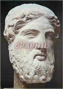 Moderne Karte Paris Musee du Louvre Departement des Antiquites Grecques et Romaines Tete de Zeus
