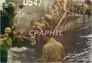 Moderne Karte Debarquement en Normandie Debarquement d'un Transport de Troupes Militaria
