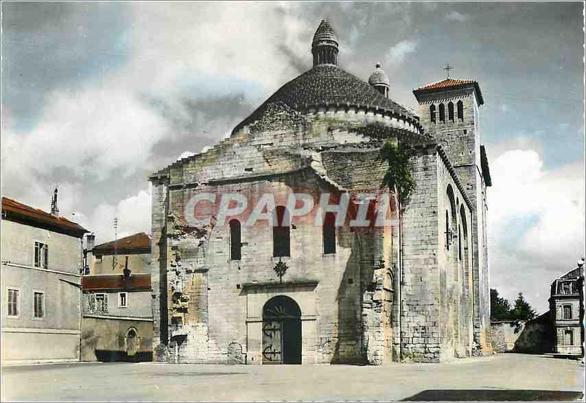 Moderne Karte Perigueux (Dordogne) l'Eglise de la Cite 0