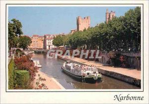 Moderne Karte Narbonne le canal de la Robine Il relie le Canal du Midi a la Mediterranee Bateau Peniche