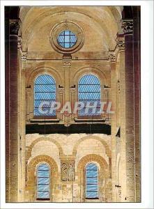 Moderne Karte Conques (Aveyron) Vitraux de Pierre Soulages dans le Transept Nord de l'Eglise