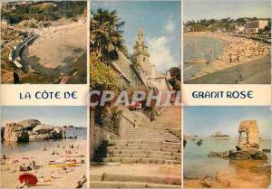 Moderne Karte La Cote de Granit Rose la Bretagne en Couleurs les Escaliers de Brelevenez les Plages de Trebeur