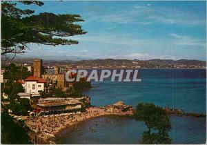 Moderne Karte La Napoule la Cote d'Azur le Vieux Chateau Ecossais et la Plage