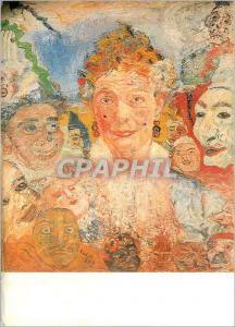 Moderne Karte Gent Museum voor Schone Kunsten James Ensor 1860 1949 Vieille Femme aux Masques