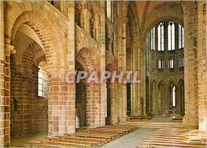 Moderne Karte Le Mont Saint Michel Merveille de l'Occident la Nef Romane de l'Eglise Abbatiale