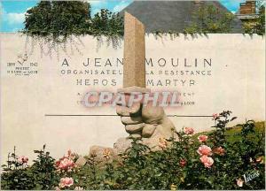 Moderne Karte Chartres (Eure et Loir) le Monument a la Memoire de Jean Moulin Militaria WWII