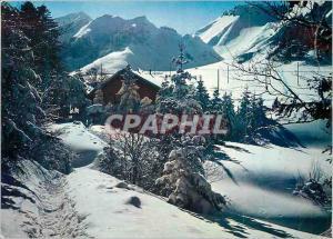 Moderne Karte Sport d'Hiver en Auvergne Le Chalet du Club alpin au pied du Sancy (1886 m)