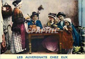 Moderne Karte Les Auvergnats chez eux La soupe aux Choux Folklore