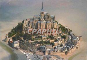 Moderne Karte Le Mont Saint Michel (Manche)