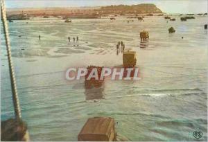 Moderne Karte Debarquement en Normandie Arrivee des Renforts Allies sur une Tete de pont en Normandie Militari