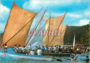 Moderne Karte Martinique Course de Yotes au Marin depart d'une Course a la Misaine Bateau