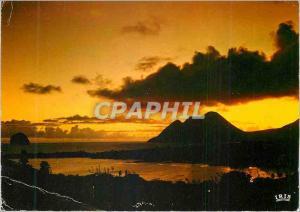Moderne Karte Martinique Coucher de Soleil sur le Diament