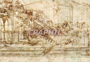 Moderne Karte Firenze Galerie Uffizi Gab Designi e Stampe Leonardo Prospettiva
