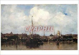 Moderne Karte Paris Musee du Louvre Jacob Maris (1837 1899) Ville Hollandaise au Bord de l'Eau