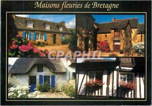 Moderne Karte Les Maisons fleuries de Bretagne