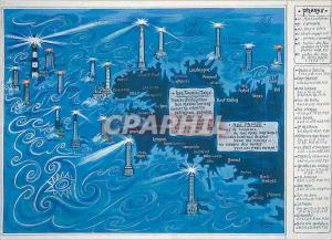 Moderne Karte Notre Bretagne Ses Phares
