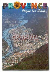 Moderne Karte Dignes les Bains Charmes et Couleurs de Provence vue aerienne