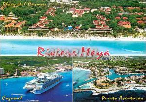 Moderne Karte Riviera Maya Mexico