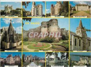 Moderne Karte En Anjou Saumur Montreuil Bellay Brissac Montgeoffroy Fontevraud Angers Cunault