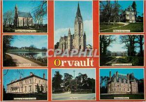 Moderne Karte Orvault (Loire Atlantique) Chapelle Notre Dame des Anges Le calvaire