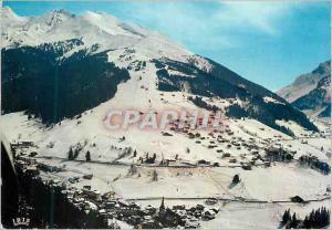 Moderne Karte La Clusaz Hte Savoie 1100 m 2650 m Les Pistes du Champ bleu
