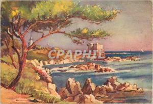 Moderne Karte Environs de Cannes Ile Saint Honorat