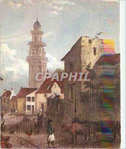 Moderne Karte Landerneau Lithographie Bretagne Ancienne