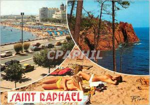 Moderne Karte Saint Raphael La Cote d'Azur Inoubliable