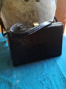 Handtasche/ Handkoffer 50/60er Jahre