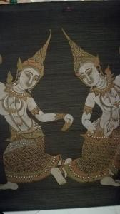 Tanjore Malerei -- auf Seide