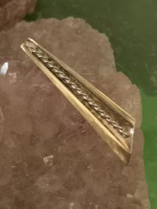 Desuigner - Brosche Art Deko/ Modernismus Vergoldete Silberbrosche von Estro