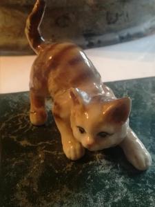 Vintage Porzellan Katze
