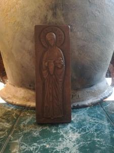 Heiligenbild aus Kupfer \