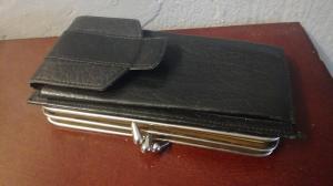 Vintage Spektacle case! Brillenetui und Portemonnaie in Einem LEDER