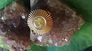 Cetikon - Antimagnetic Vintage Uhr mit Kette - Vergoldet Funktionstüchtig