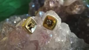 Ohrstecker aus den Fiftees Gold Double