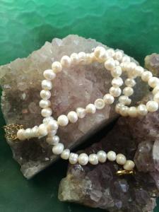 Perlenkette Gold platiert