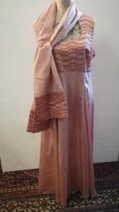 Vintage Abendkleid mit Stola