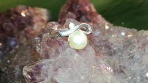 Silber ring mit Perle