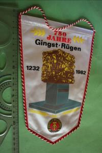 Toller alter Wimpel 750 Jahre Gingst - Rügen 1982 - DDR
