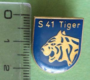 """Toller alter Anstecker -  Tigerkopf - Schnellboot  P 6141, S 41 """"Tiger"""""""