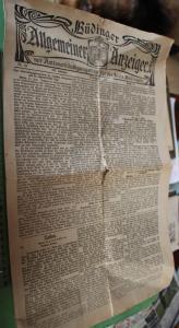 Tolle alte Zeitung - Büdinger Allgemeiner Anzeiger Nr. 69 - 1927