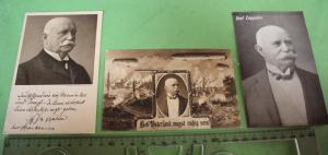 Drei tolle alte Karten - Graf Zeppelin - Portraits und Luftschiffe