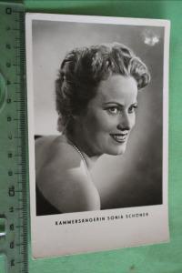 Tolle alte Karte - Kammersängerin Sonja Schöner - 50-60er Jahre ?