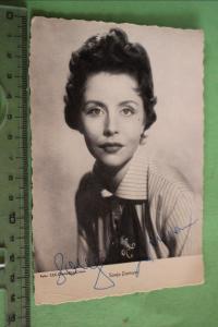 Tolle alte Karte - Schauspielerin Sonja Ziemann mit original  Autogramm