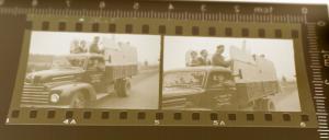 Zwei tolle alte Negative - Oldtimer LKW Pritsche - Firma aus Breitenbach