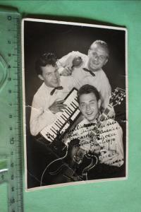 Tolle alte Karte - Musiker Hein P???  Cafe Asgard Bausin - 1953 mit Widmung