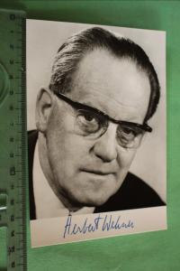 Tolle alte Karte - Bundesminister Herbert Wehner -original Unterschrift ?